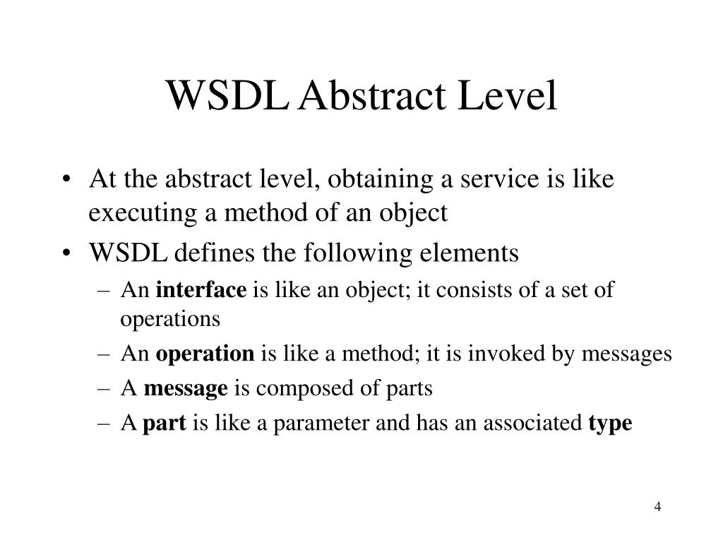 WSDL Abstract Level