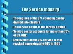 the service industry