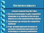 the service industry14
