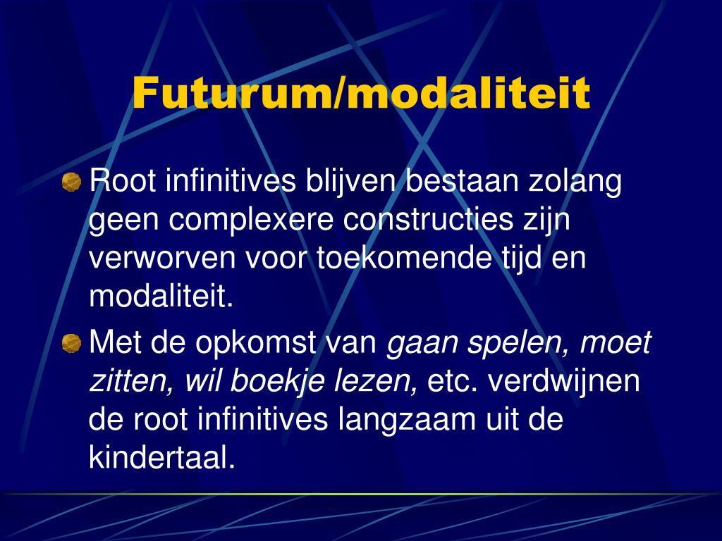 Futurum/modaliteit