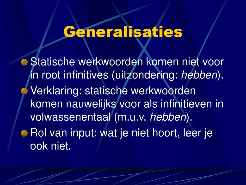 Generalisaties