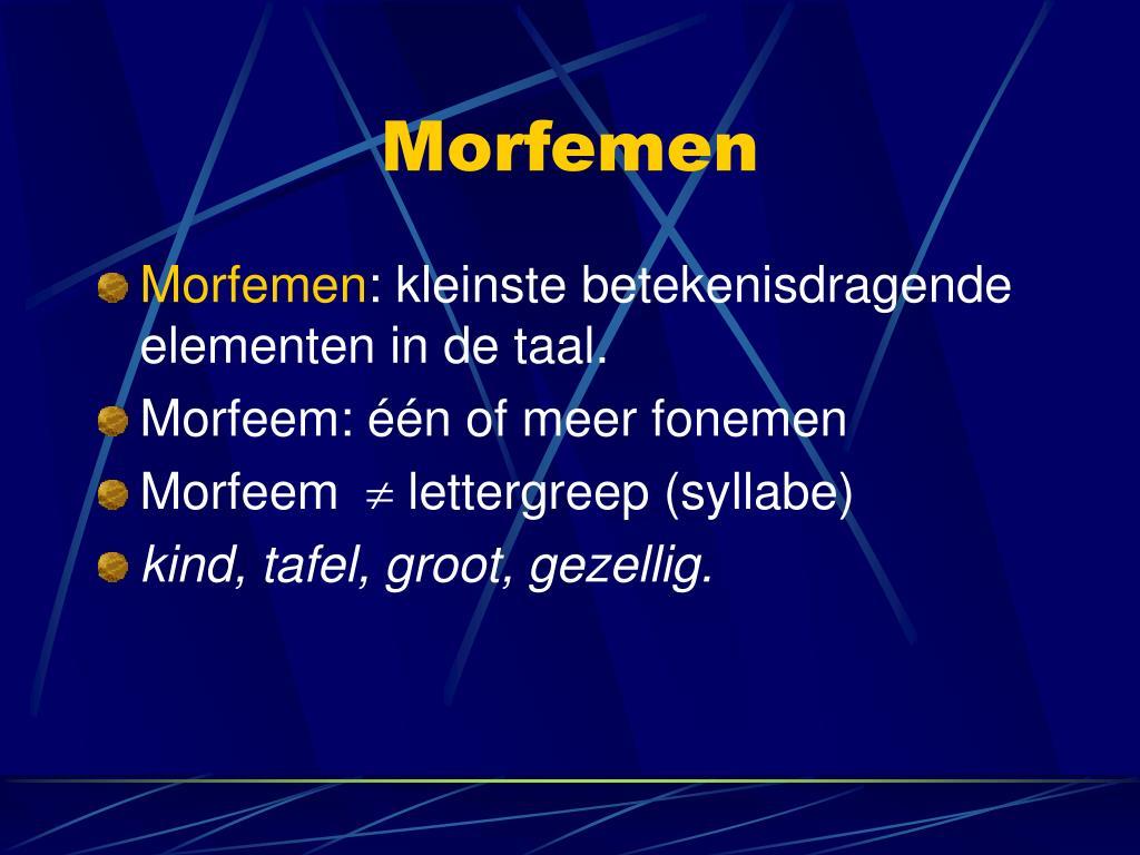 Morfemen