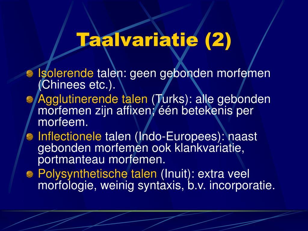 Taalvariatie (2)