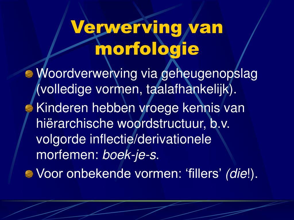 Verwerving van morfologie