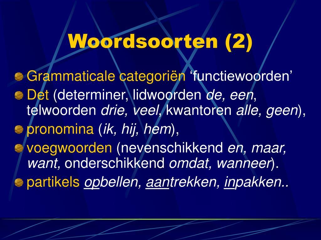 Woordsoorten (2)