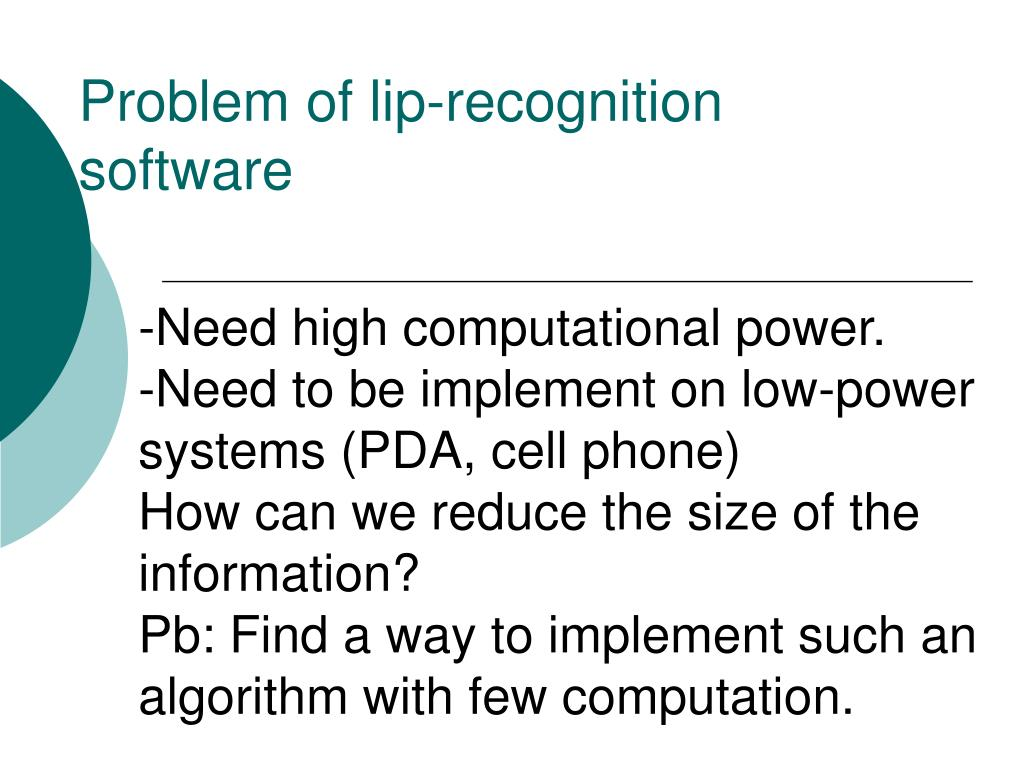Problem of lip-recognition software