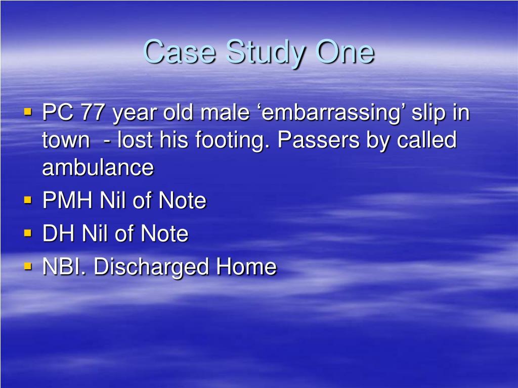 Case Study One