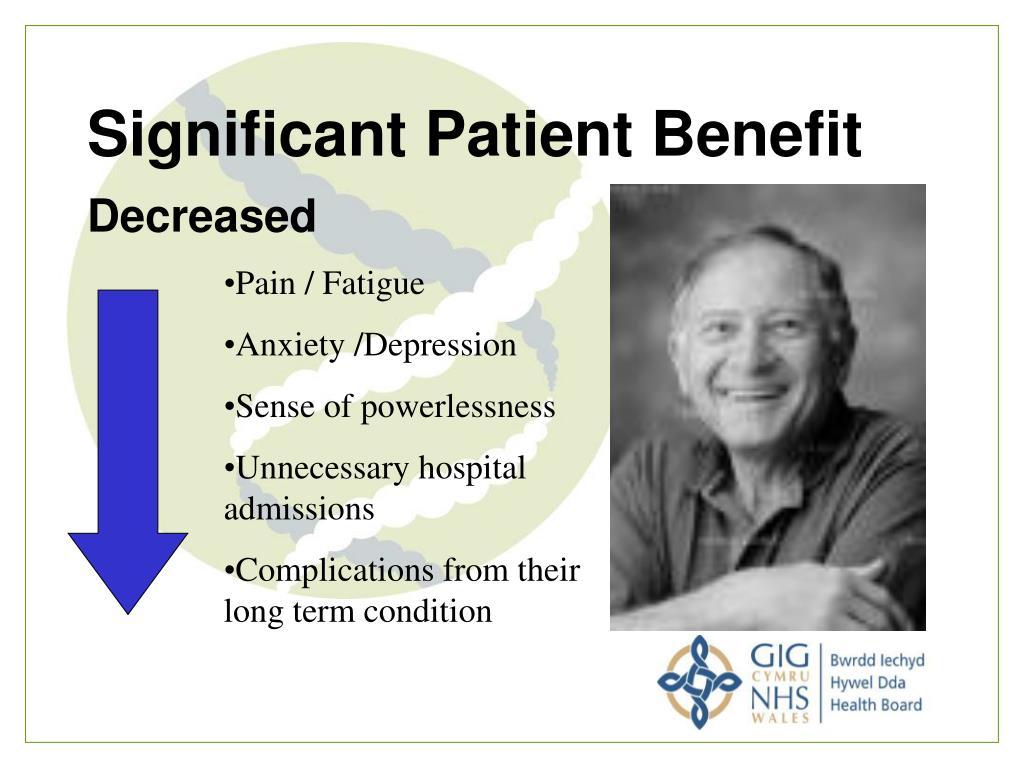 Significant Patient Benefit