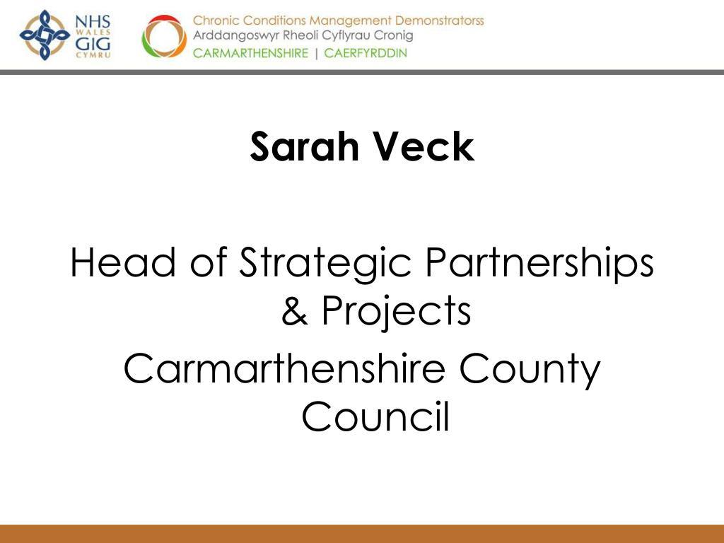 Sarah Veck