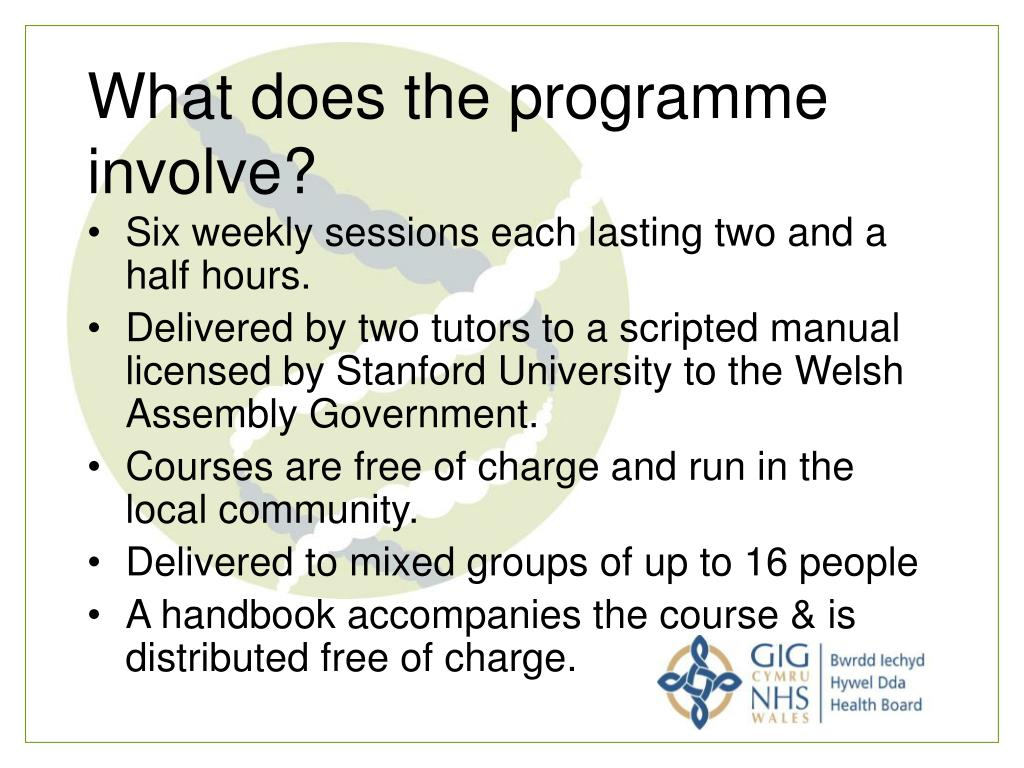 What does the programme involve?