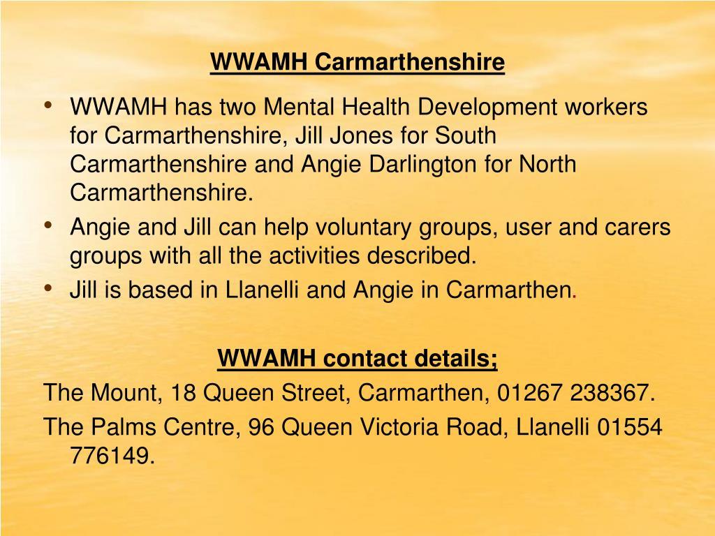 WWAMH Carmarthenshire