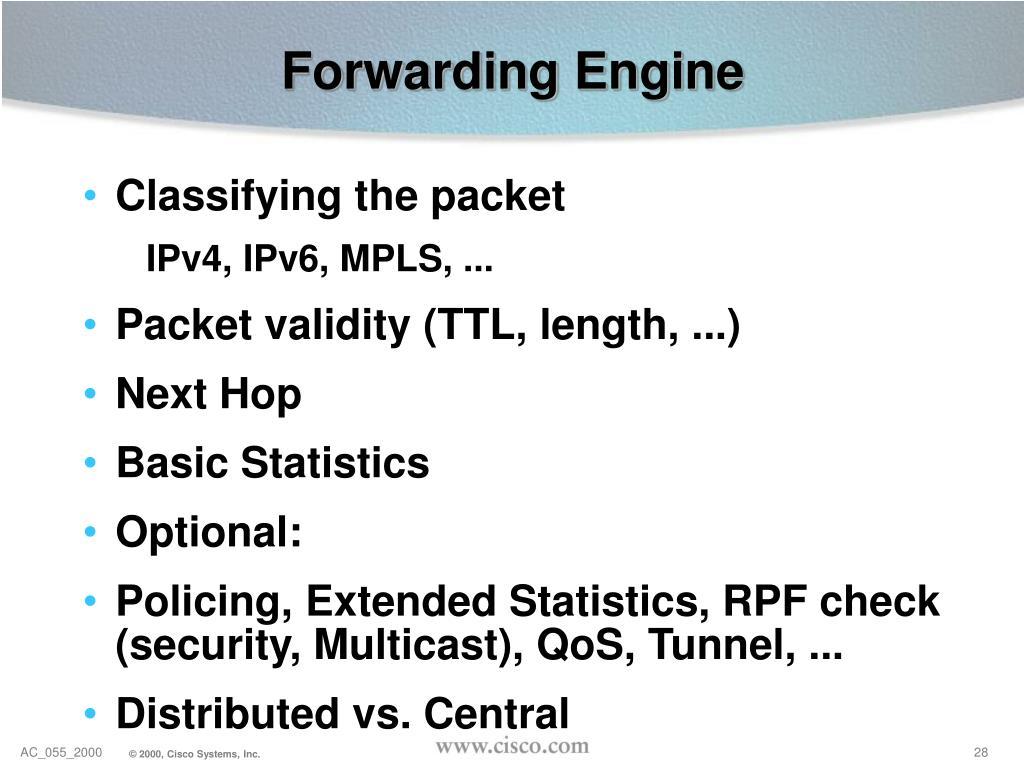 Forwarding Engine