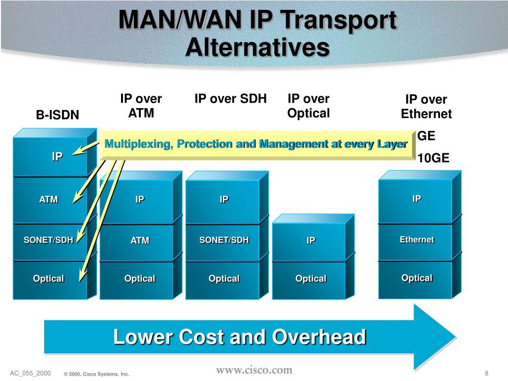 MAN/WAN IP Transport Alternatives