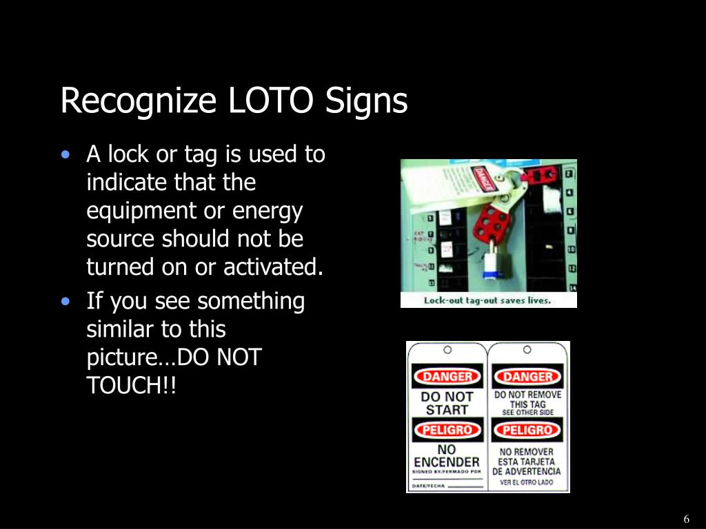 Recognize LOTO Signs