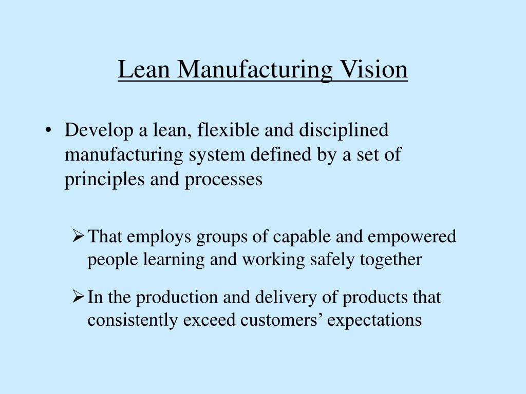 Lean Manufacturing Vision
