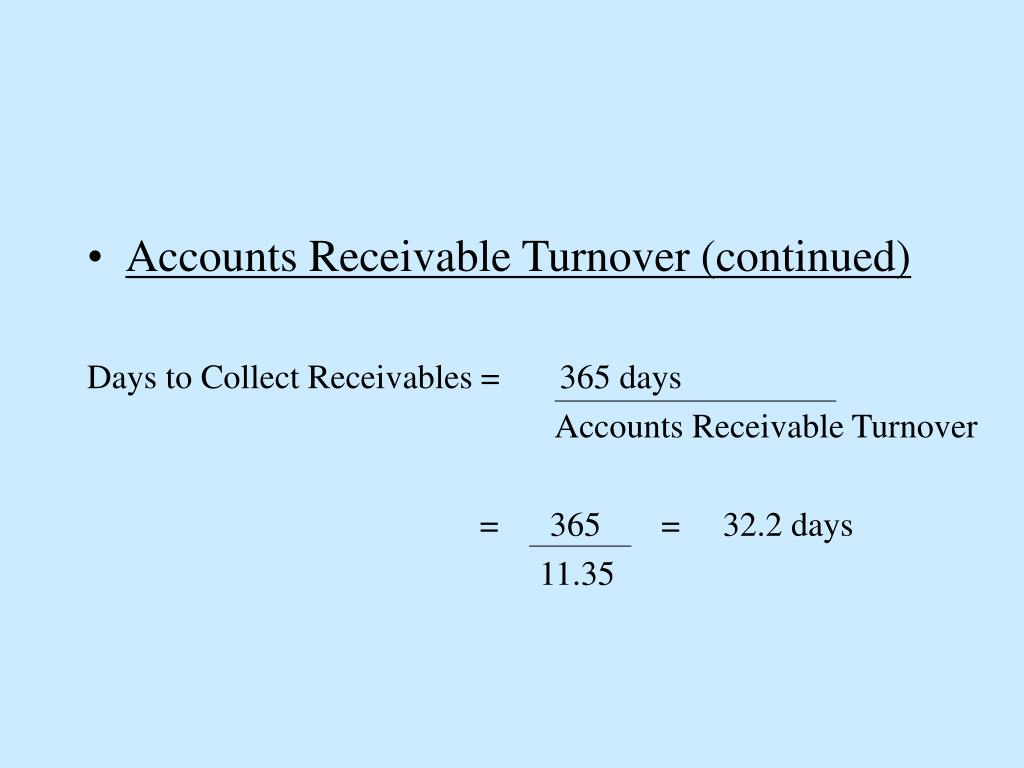 Accounts Receivable Turnover (continued)