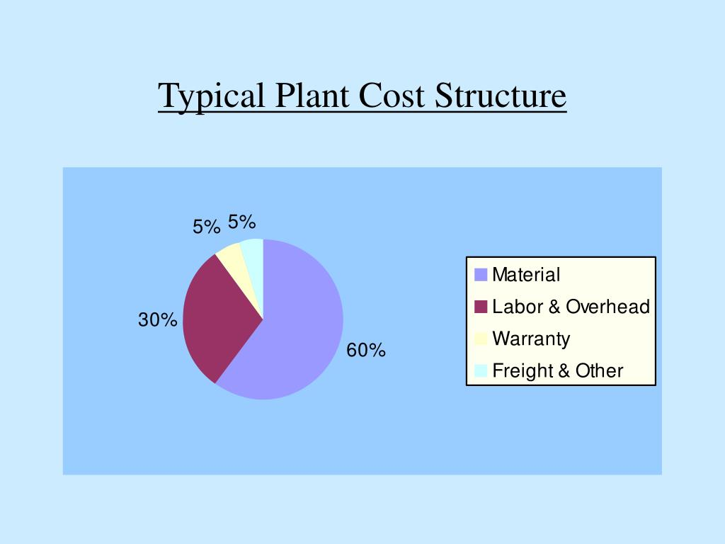 Typical Plant Cost Structure