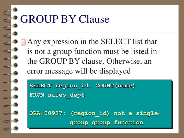 GROUP BY Clause