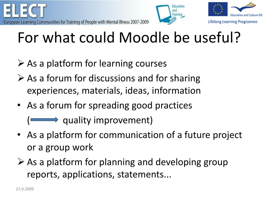For what could Moodle be useful?
