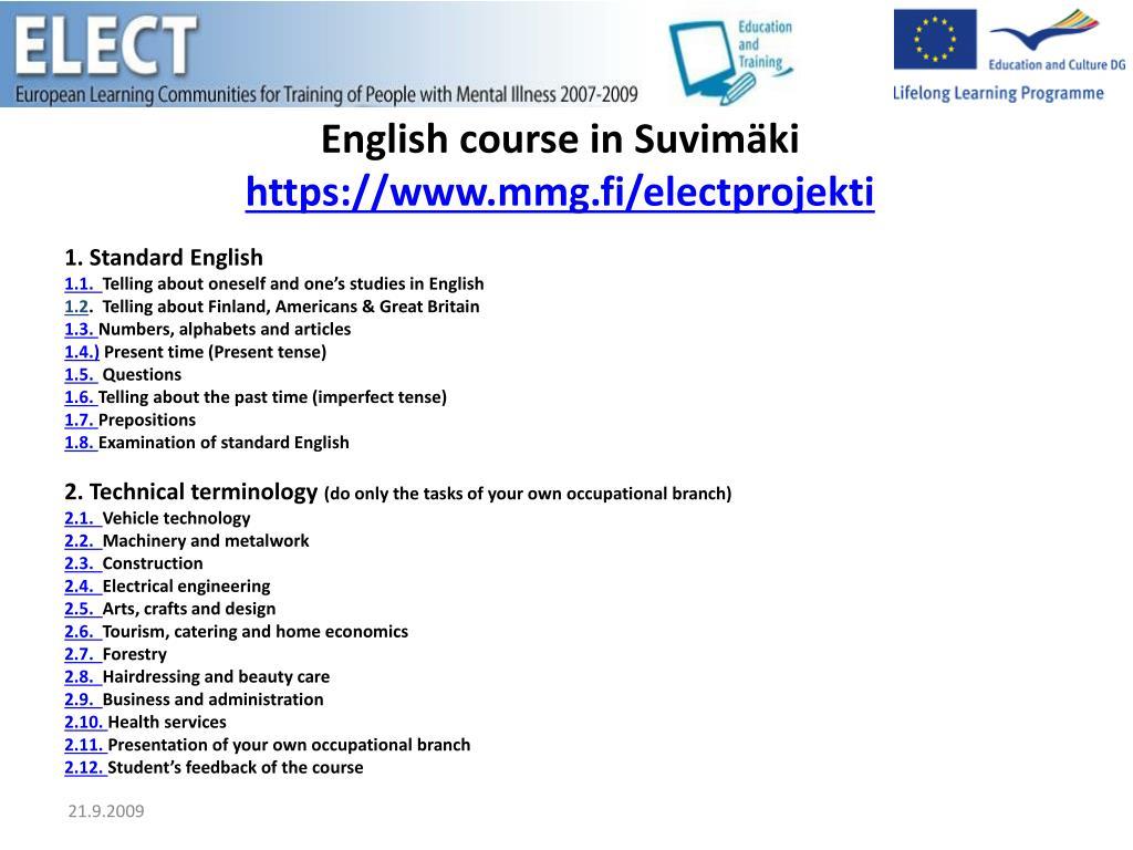 1.Standard English