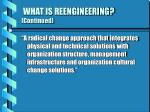 what is reengineering continued