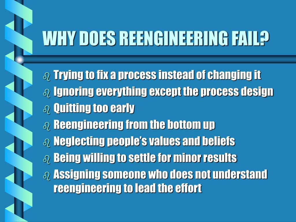 WHY DOES REENGINEERING FAIL?