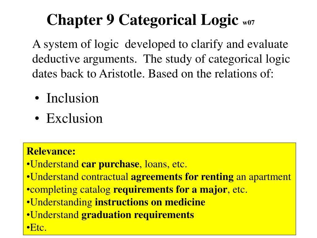 Chapter 9 Categorical Logic