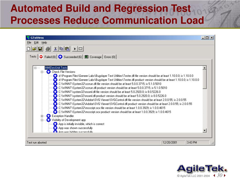 Automated Build and Regression Test Processes Reduce Communication Load