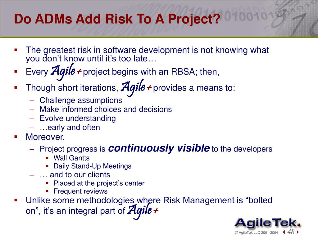 Do ADMs Add Risk To A Project?