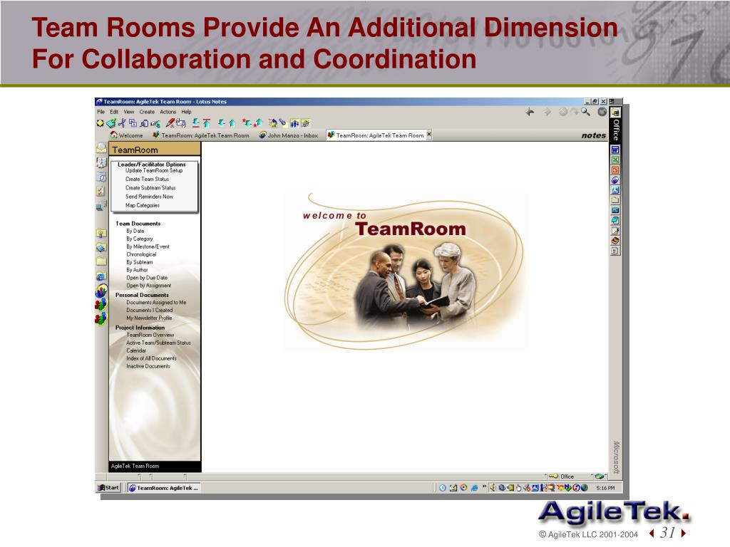 Team Rooms Provide An Additional Dimension For Collaboration and Coordination