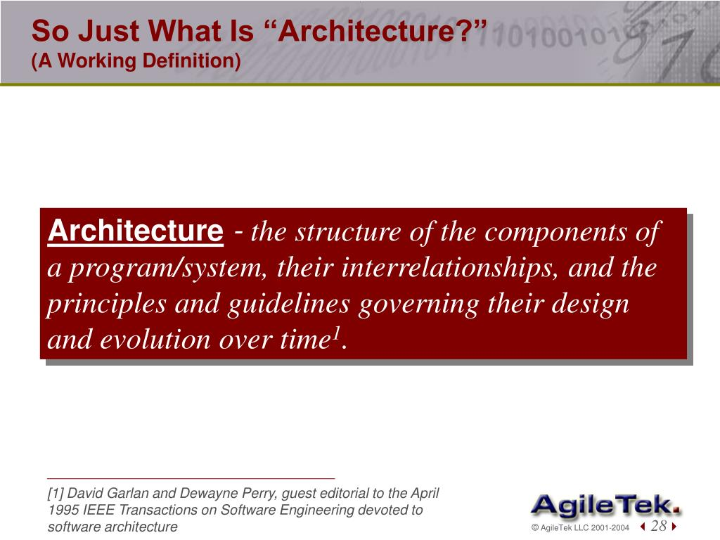 "So Just What Is ""Architecture?"""