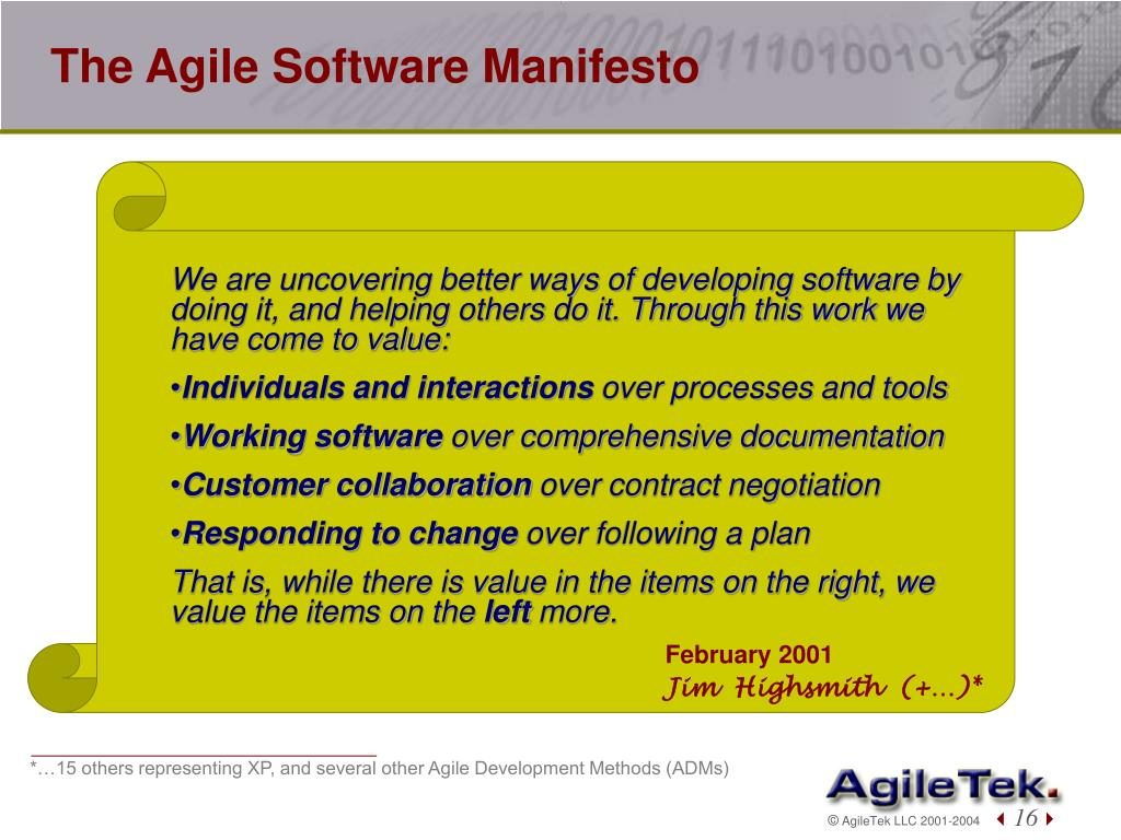 The Agile Software Manifesto