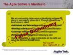 the agile software manifesto43