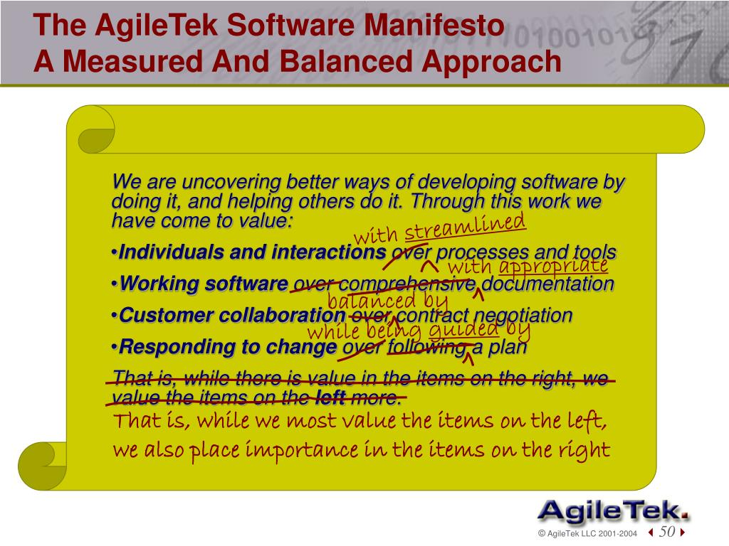The AgileTek Software Manifesto