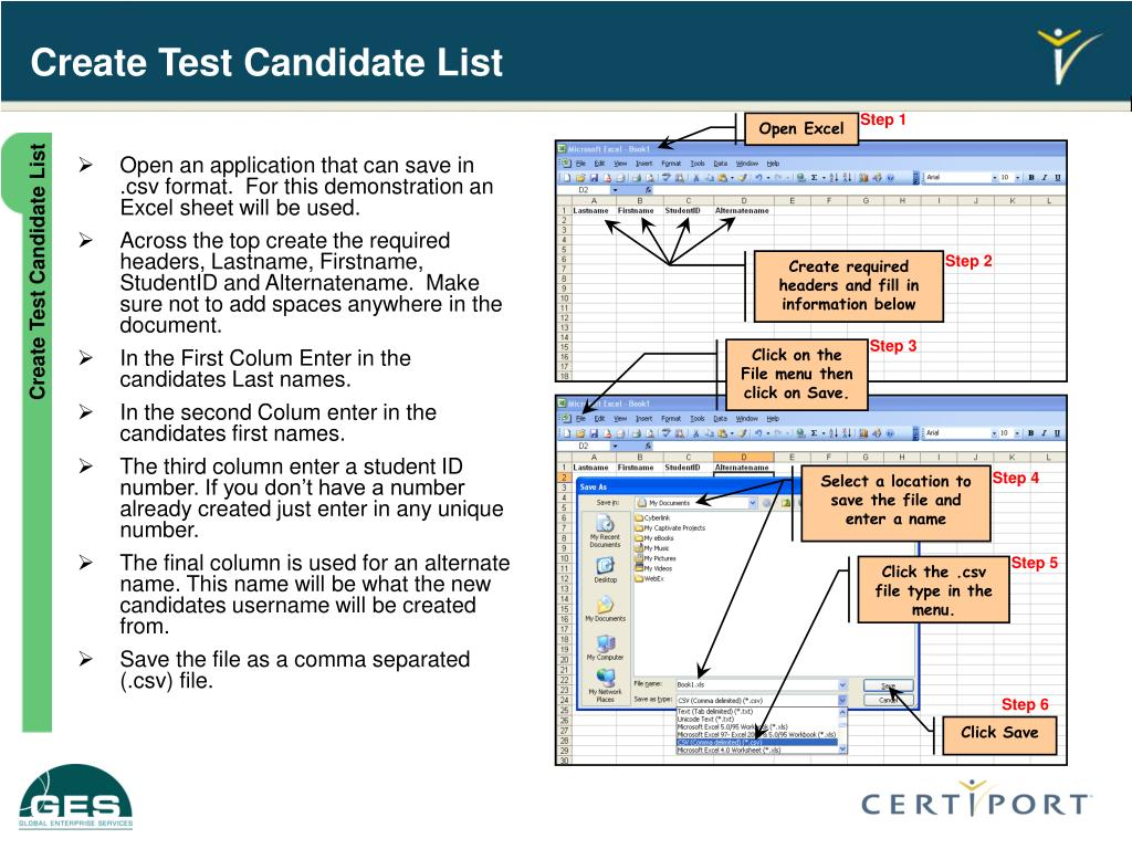 Create Test Candidate List