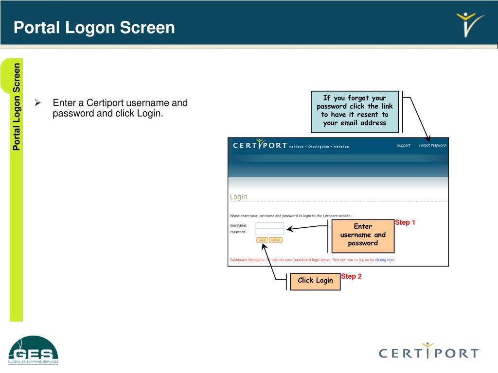 Portal Logon Screen