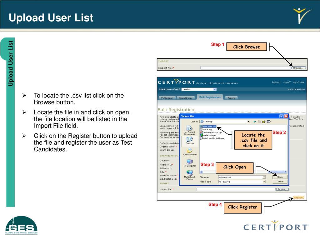 Upload User List