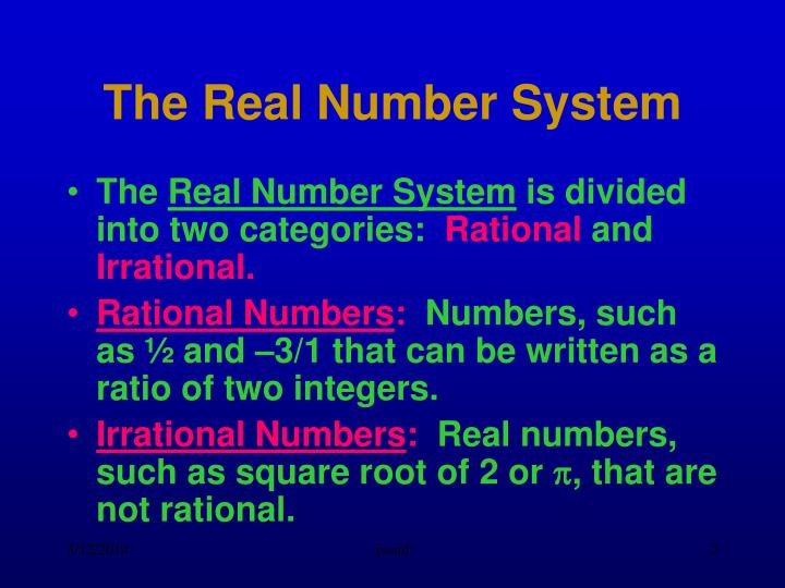 The real number system2 l.jpg