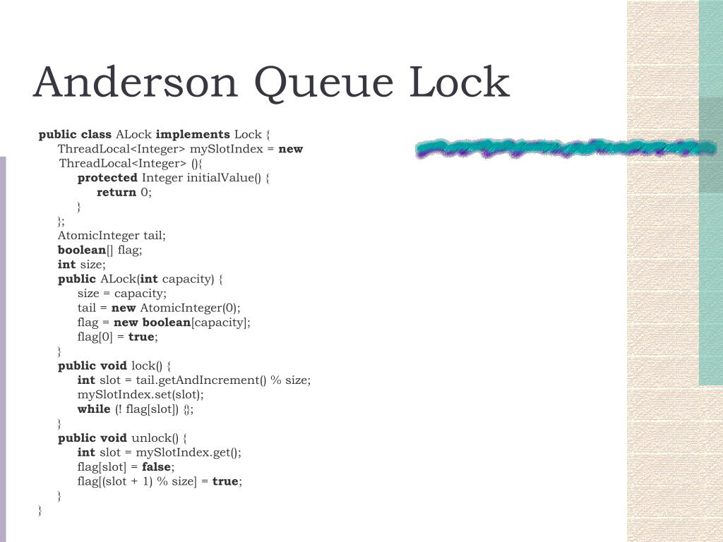 Anderson Queue Lock