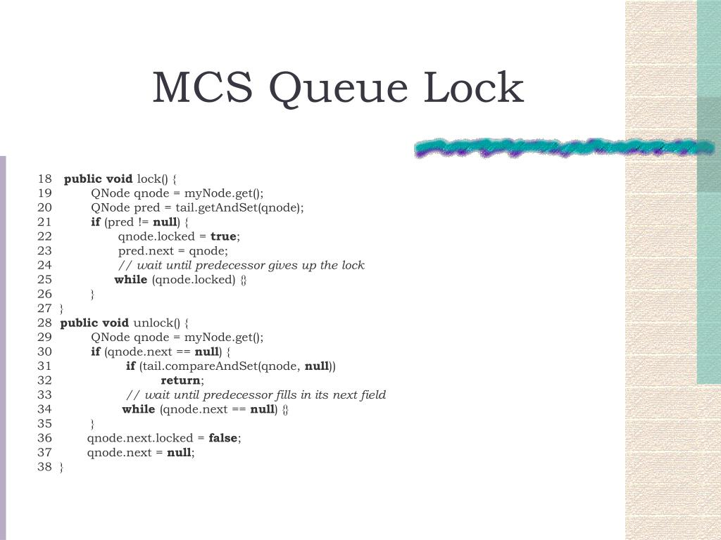 MCS Queue Lock