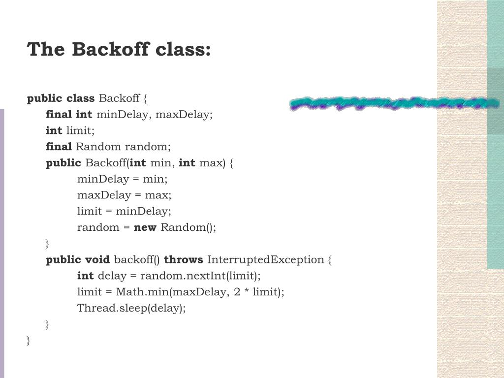 The Backoff class: