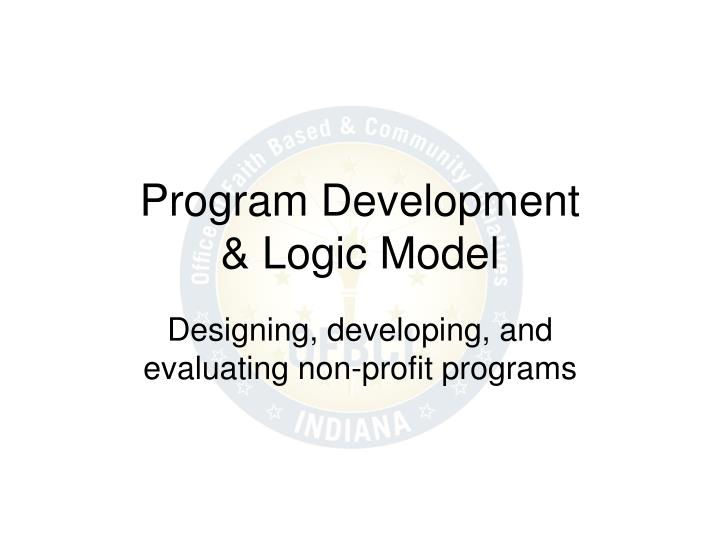 Program development logic model