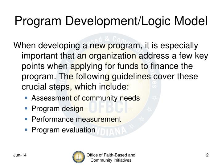Program Development/Logic Model