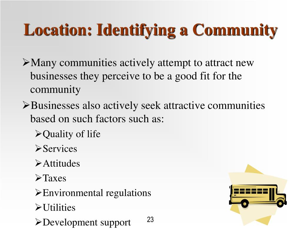 Location: Identifying a Community