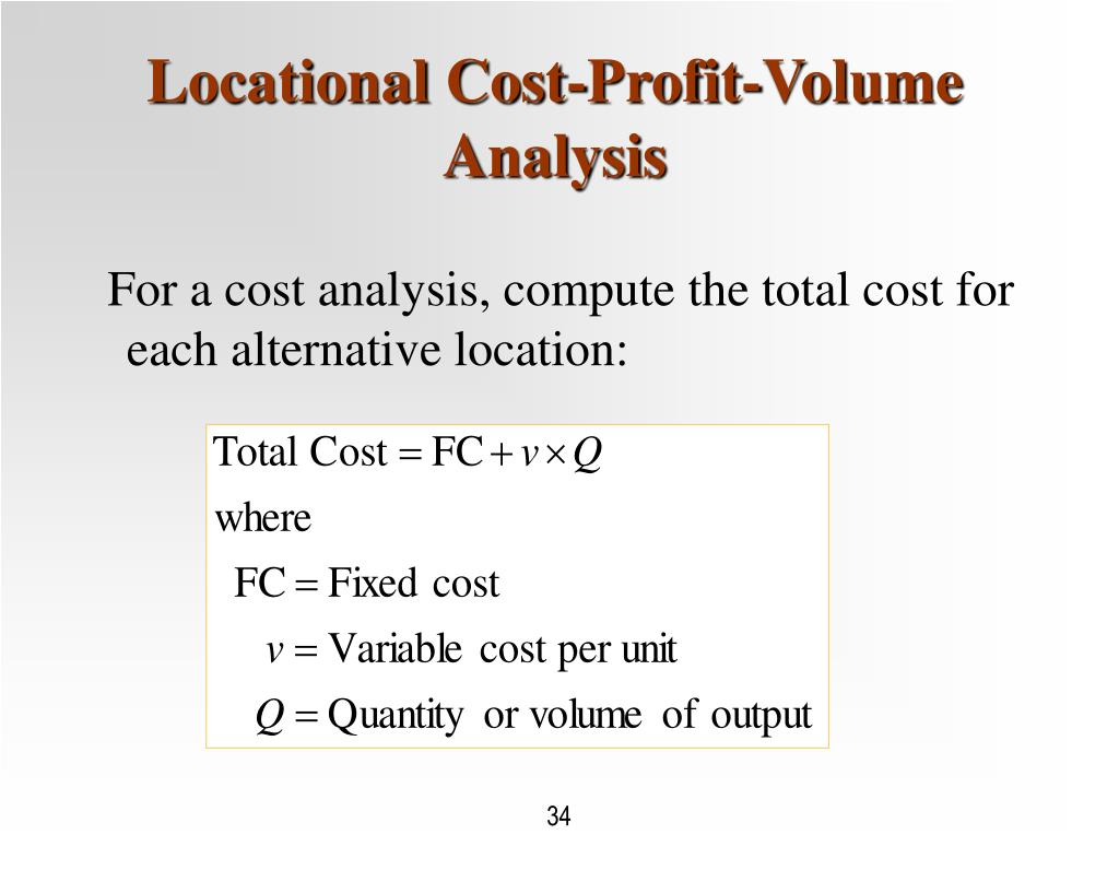 Locational Cost-Profit-Volume Analysis