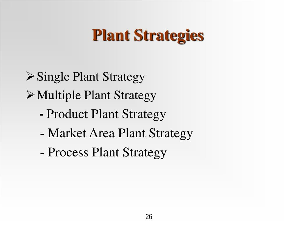 Plant Strategies