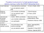 possible involvement of a field epidemiologist before during or after the epiet fellowship time