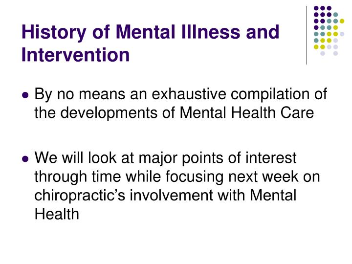 History of mental illness and intervention2