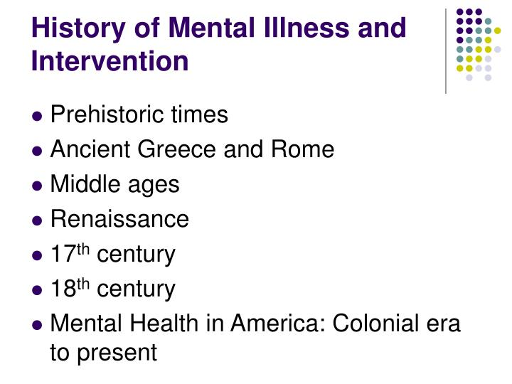 History of mental illness and intervention3