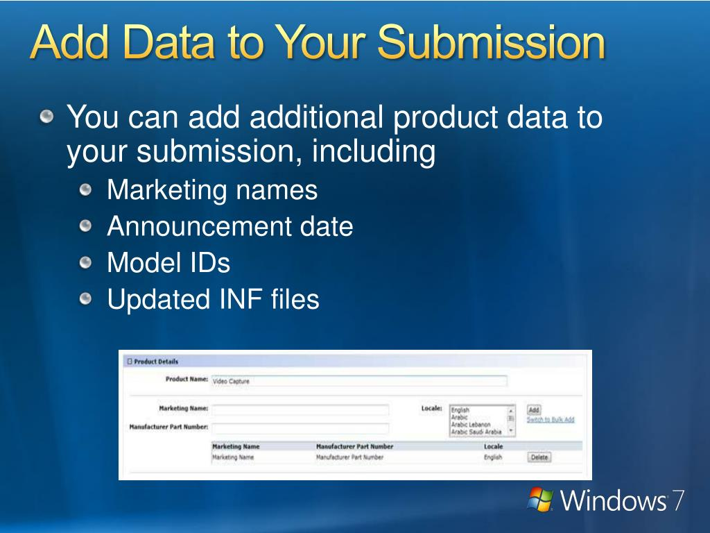 Add Data to Your Submission